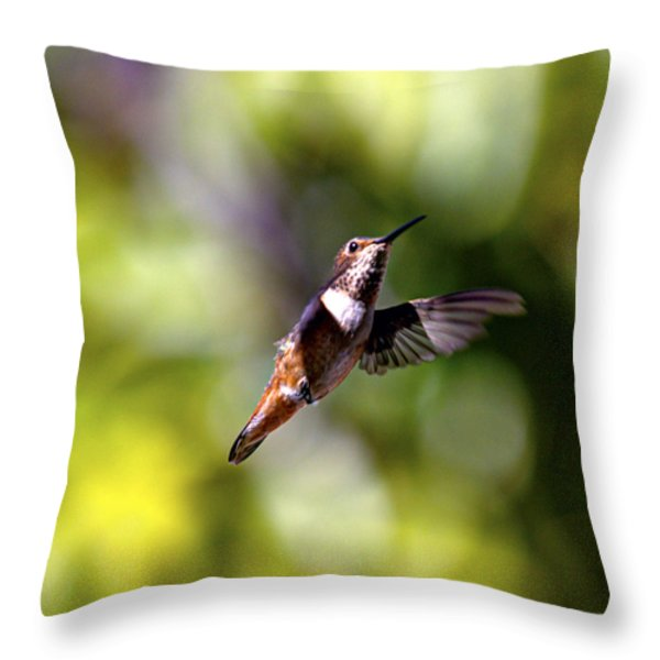 Posed Throw Pillow by Joe Schofield