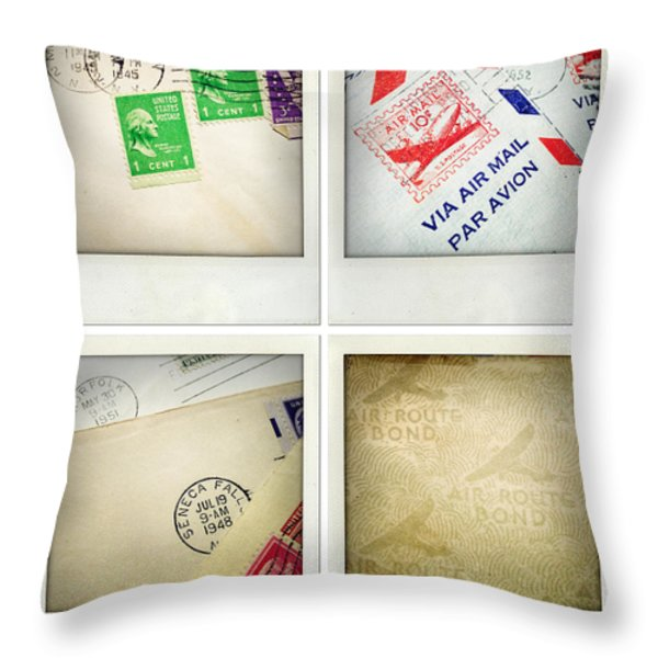 Postal Still Life Throw Pillow by Les Cunliffe