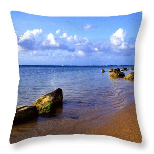 Puerto Rico Rio Grande Shoreline Throw Pillow by Thomas R Fletcher