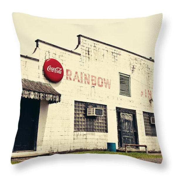 Rainbow Inn Throw Pillow by Scott Pellegrin