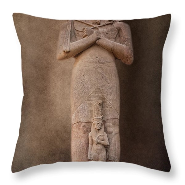 Ramses II Throw Pillow by Erik Brede