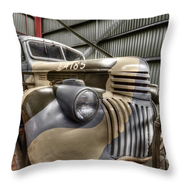 Ready To Roll Throw Pillow by Wayne Sherriff
