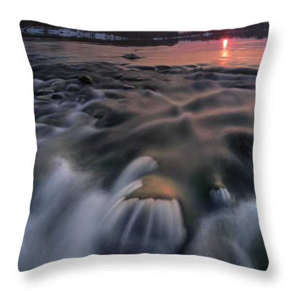 Red sunset Throw Pillow by Davorin Mance