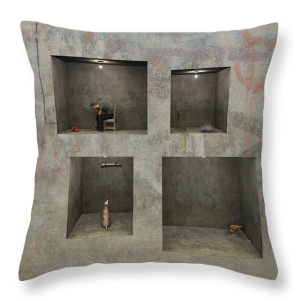 Regarding Desire Throw Pillow by Cynthia Decker