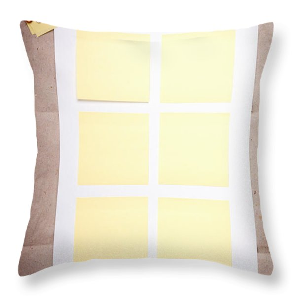 Reminder Notes Throw Pillow by Tim Hester