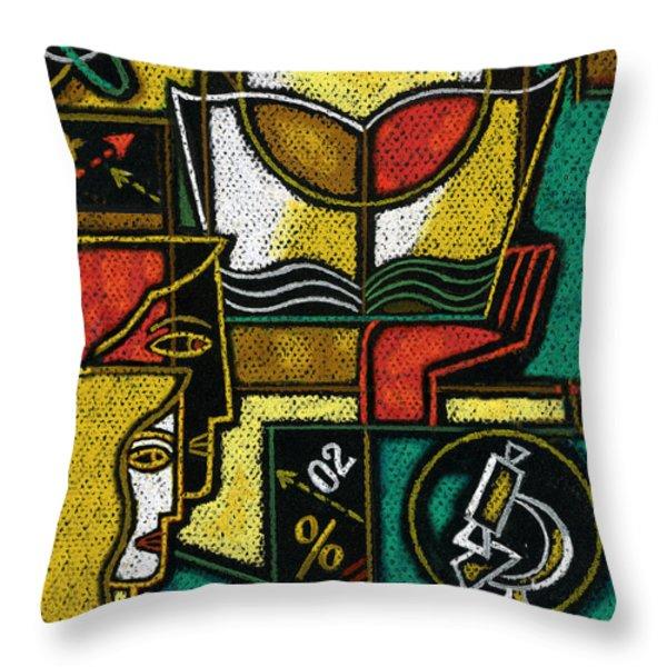 Research Throw Pillow by Leon Zernitsky