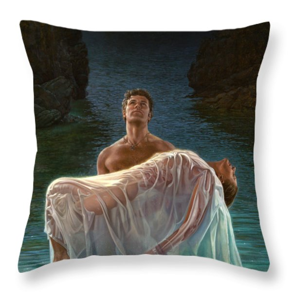 Resurrection Throw Pillow by Mia Tavonatti