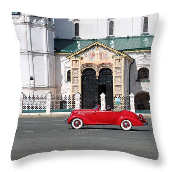 Retro Car Throw Pillow by Evgeny Pisarev