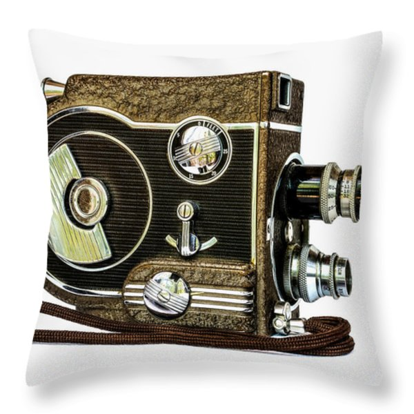 Revere 8 Movie Camera Throw Pillow by Jon Woodhams
