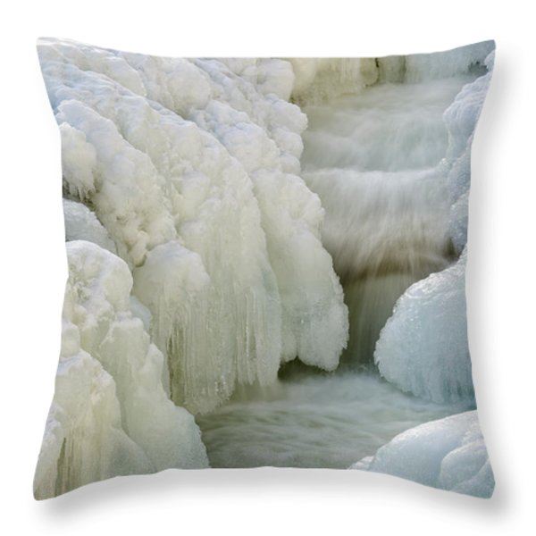 Rocky Gorge Scenic Area - White Mountains New Hampshire Usa Throw Pillow by Erin Paul Donovan