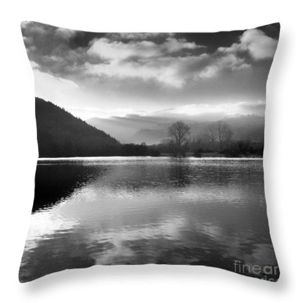 Romantic Lake Throw Pillow by Bernard Jaubert