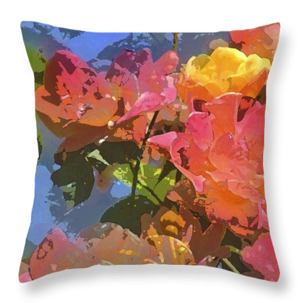 Rose 208 Throw Pillow by Pamela Cooper