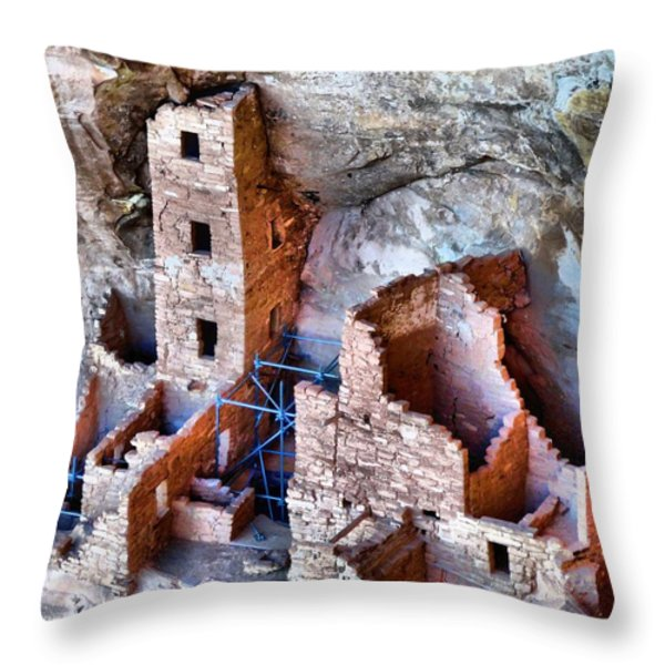 Ruins Throw Pillow by Dan Sproul
