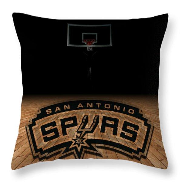 SAN ANTONIO SPURS Throw Pillow by Joe Hamilton