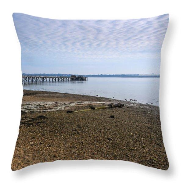 Sandy Beach Throw Pillow by Svetlana Sewell