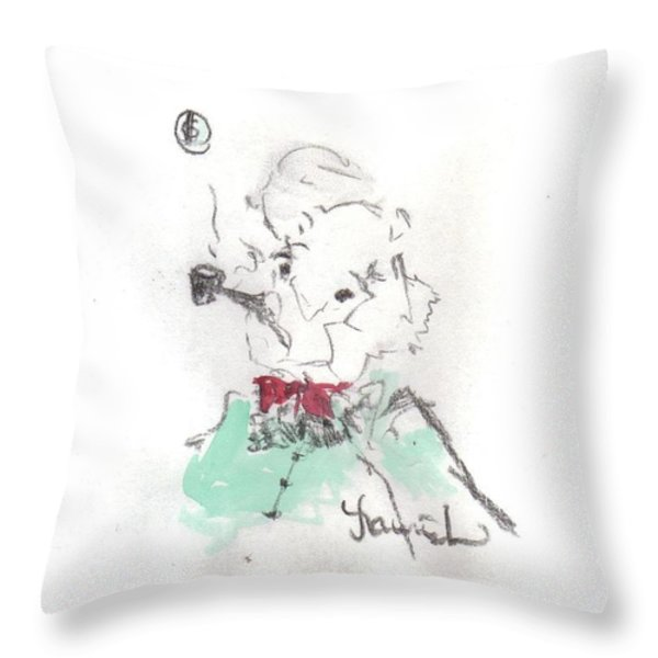 Scrooge Throw Pillow by Laurie D Lundquist