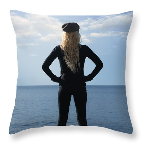 self-confidence Throw Pillow by Joana Kruse