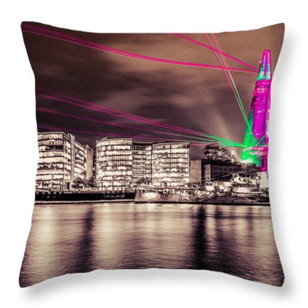 Shard London Throw Pillow by Dawn OConnor