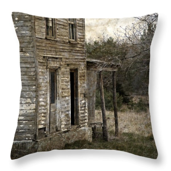 Side Porch Throw Pillow by John Stephens