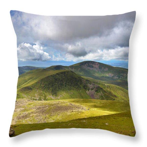 Snowdonia panorama Throw Pillow by Jane Rix