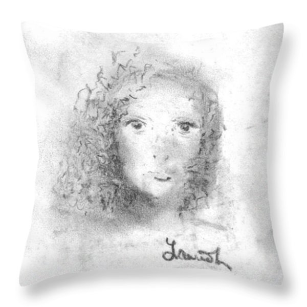 Something about Mary Throw Pillow by Laurie D Lundquist