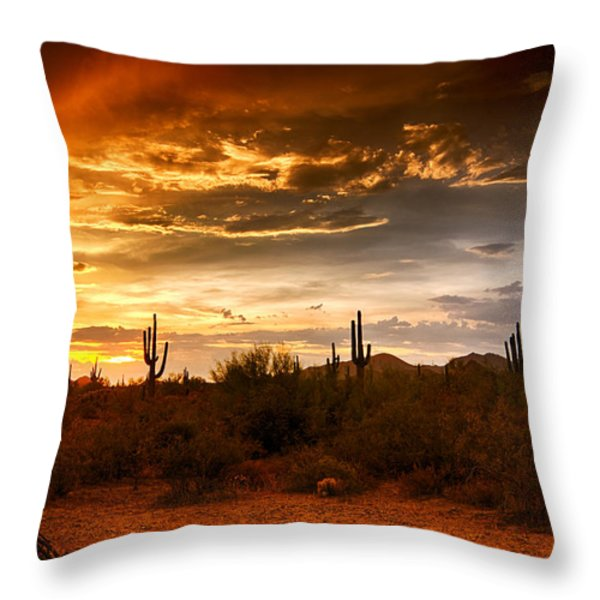 Southwestern Skies  Throw Pillow by Saija  Lehtonen