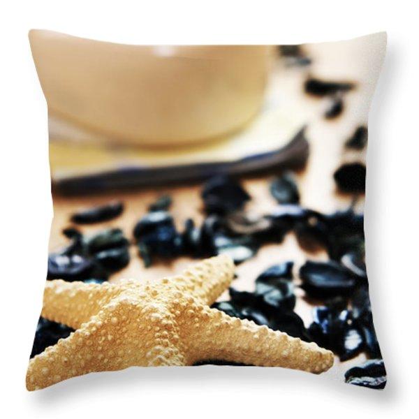 Spa Throw Pillow by Michal Bednarek