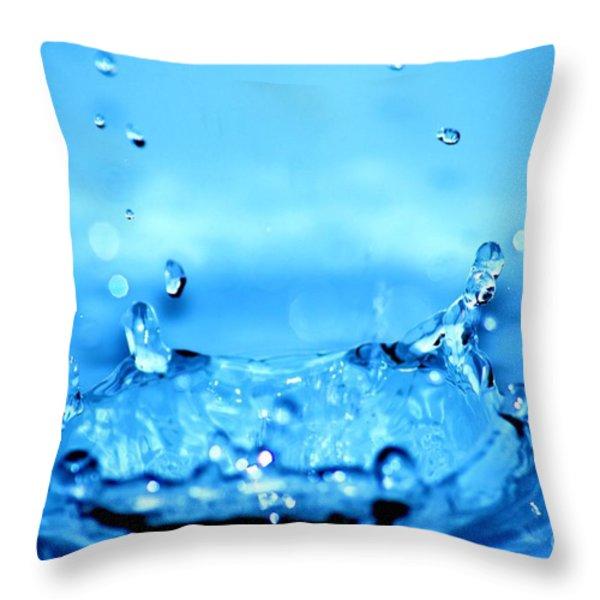Splash Throw Pillow by Michal Bednarek