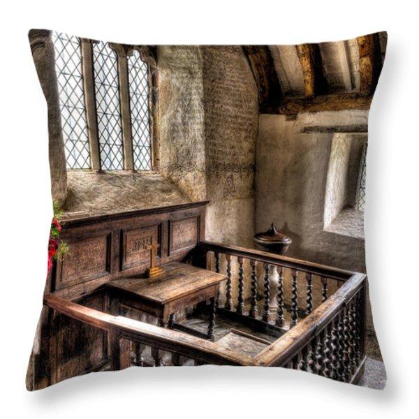 St Celynnin Church Throw Pillow by Adrian Evans