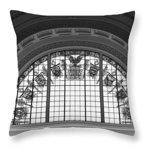 Stained Glass - Library Of Congress Throw Pillow by Mountain Dreams
