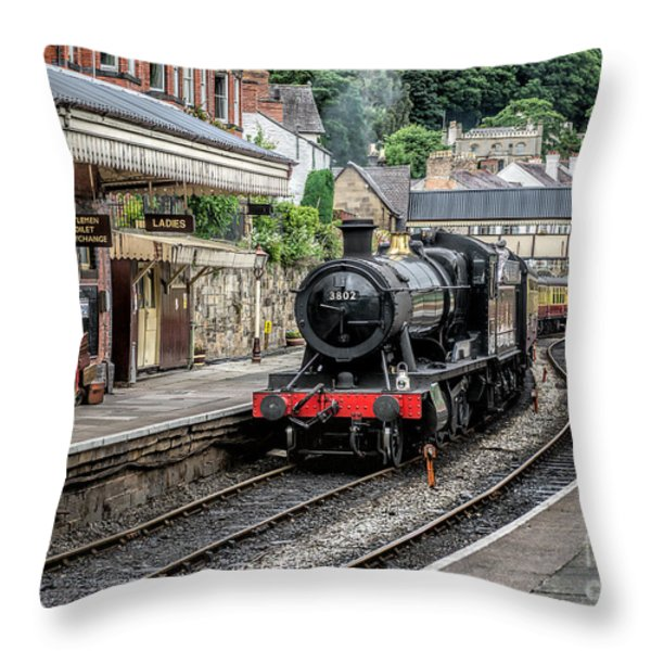 Steam Train Throw Pillow by Adrian Evans