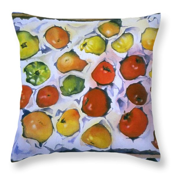 Stop on Red Throw Pillow by Elizabeth Carr