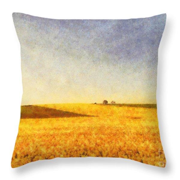 Summer Field Throw Pillow by Pixel Chimp
