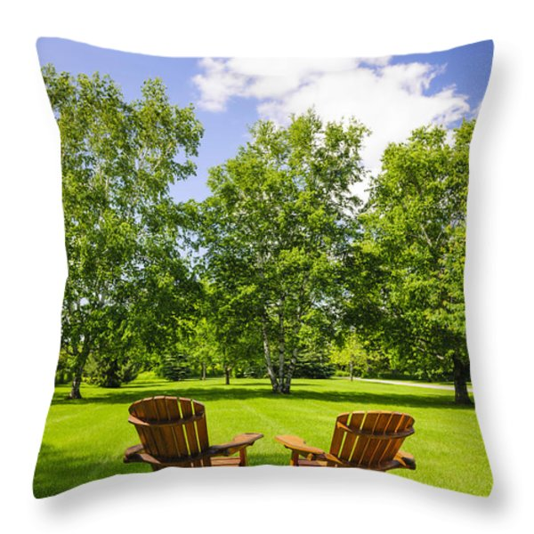 Summer relaxing Throw Pillow by Elena Elisseeva
