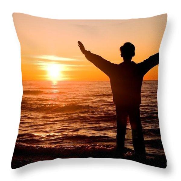 Sunset Throw Pillow by Michal Bednarek