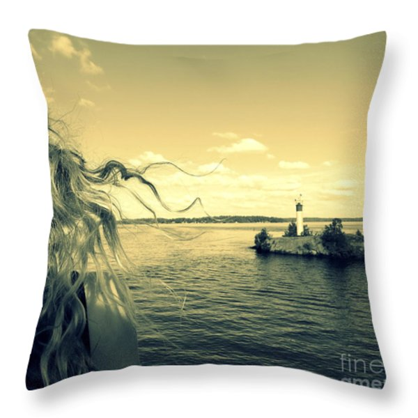 Sunshine Throw Pillow by France Laliberte