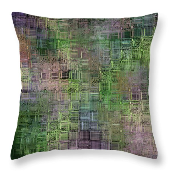 technology abstract Throw Pillow by Michal Boubin