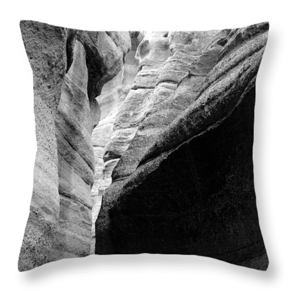 Tent Rocks Throw Pillow by Steven Ralser