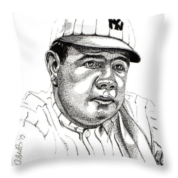 The Babe Throw Pillow by Cory Still