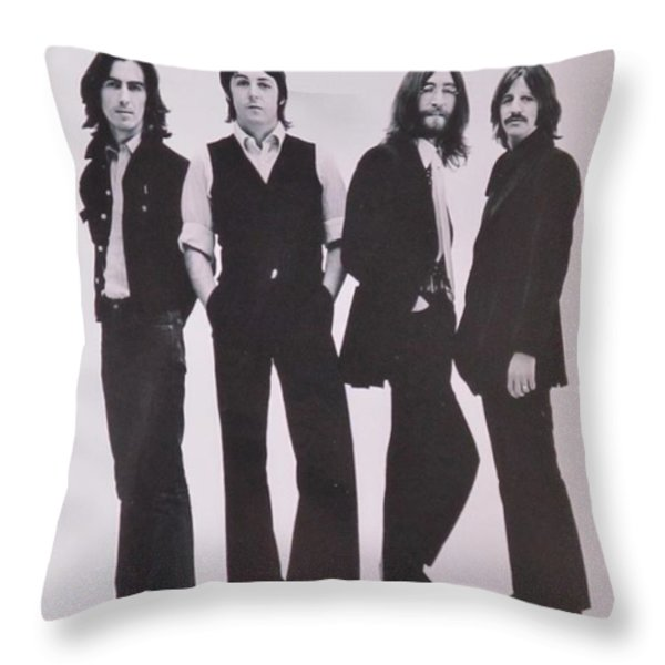 The Beatles Throw Pillow by Donna Wilson