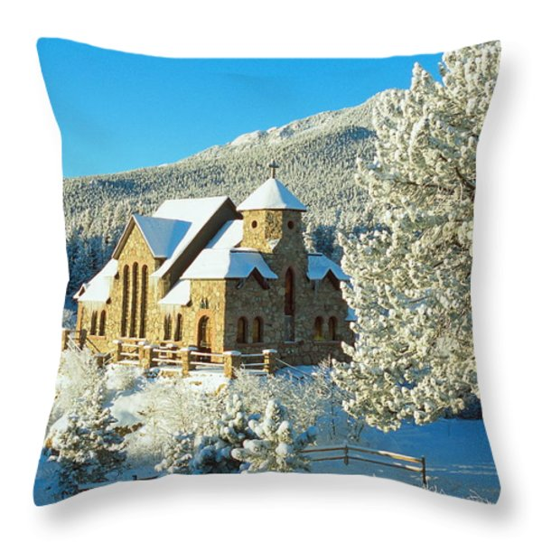 The Chapel On The Rock II Throw Pillow by Eric Glaser