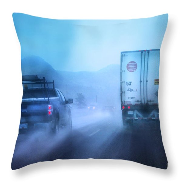 THE DRIVE HOME Throw Pillow by Theresa Tahara