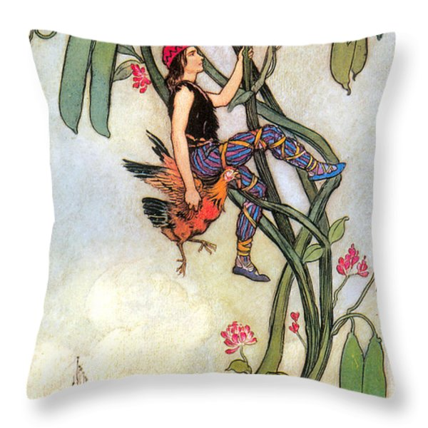 The Fairy Book Throw Pillow by Warwick Goble