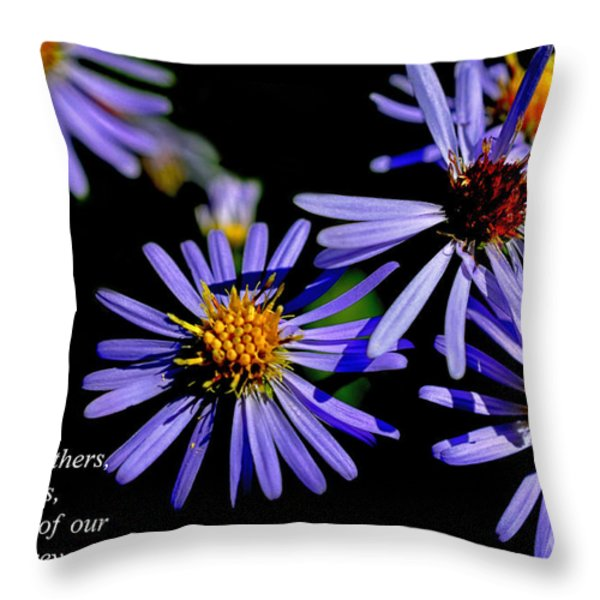 The Flower Fades Throw Pillow by Thomas R Fletcher