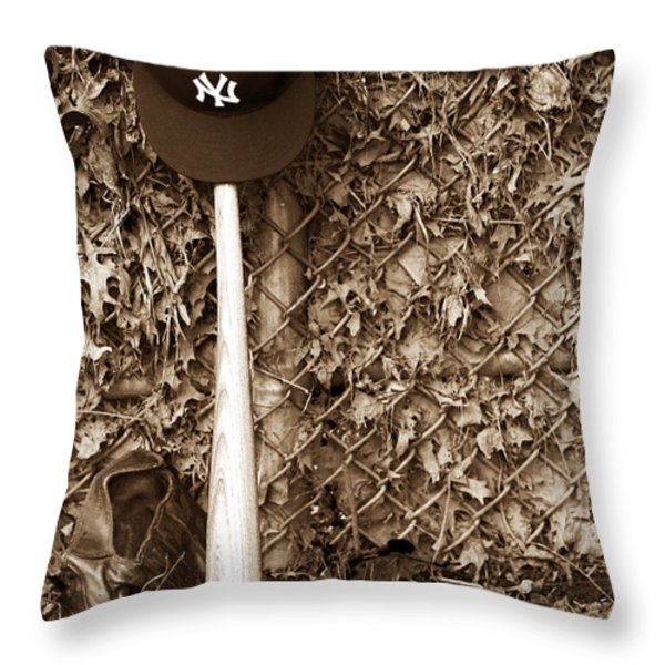 The Game Throw Pillow by John Rizzuto