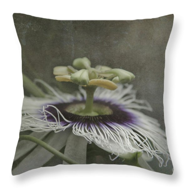 The Grace Of Beginning Throw Pillow by Sharon Mau