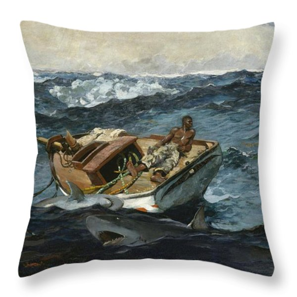 The Gulf Stream Throw Pillow by Winslow Homer