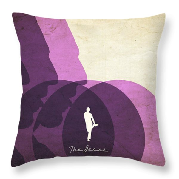 The Jesus Throw Pillow by Filippo B