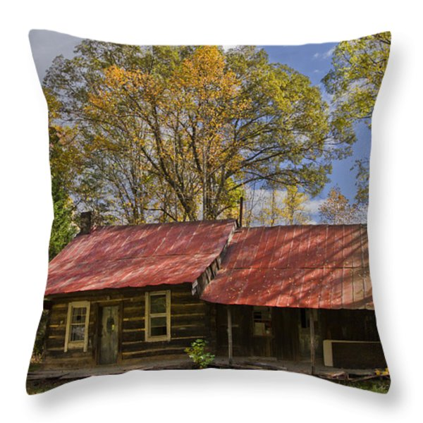 The Old Homestead Throw Pillow by Debra and Dave Vanderlaan