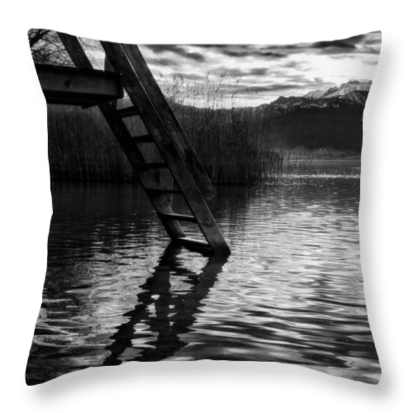 The Old Swimming Hole Throw Pillow by Mountain Dreams